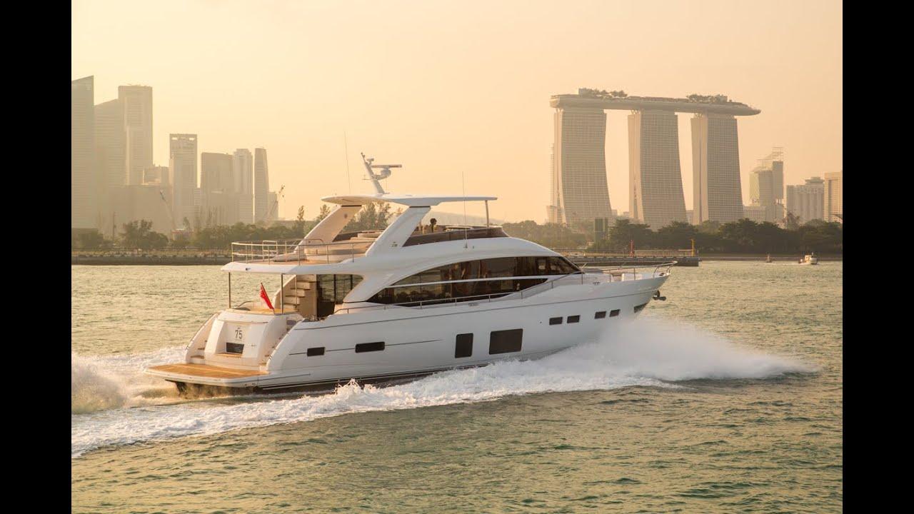 Princess 75 Motor Yacht Flybridge Motor Yacht Youtube