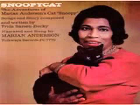 Marian Anderson and her Snoopycat