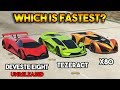 GTA 5 ONLINE : DEVESTE EIGHT VS X80 PROTO VS TEZERACT (WHICH IS FASTEST?)