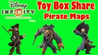 Disney Infinity Toy Box Shares : Treasure Hunt Race, Blackbeards Map, And Man The Cannons!