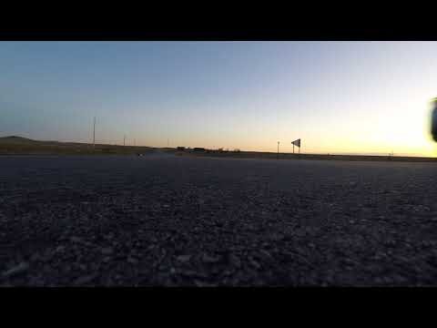 Driving through Badlands National park GoPro flies off truck lands upright