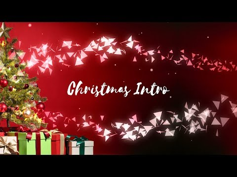 (No Text) FREE Christmas Intro Template - After Effects, Sony Vegas, Blender, Mobile (Vlogmax Intro)