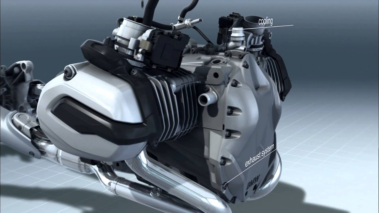 Bmw R 1200 Gs Air Water Cooled Boxer Engine With Vertical