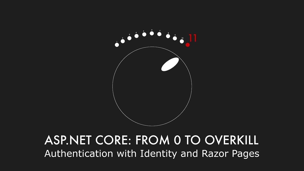 Episode 016 - Authentication with Identity and Razor Pages - ASP NET Core:  From 0 to overkill