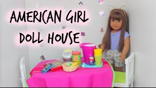 Huge  Updated American Girl Doll House Tour! 2015