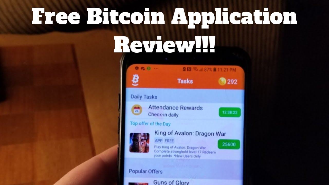 Free Bitcoin Application Review!!! - YouTube