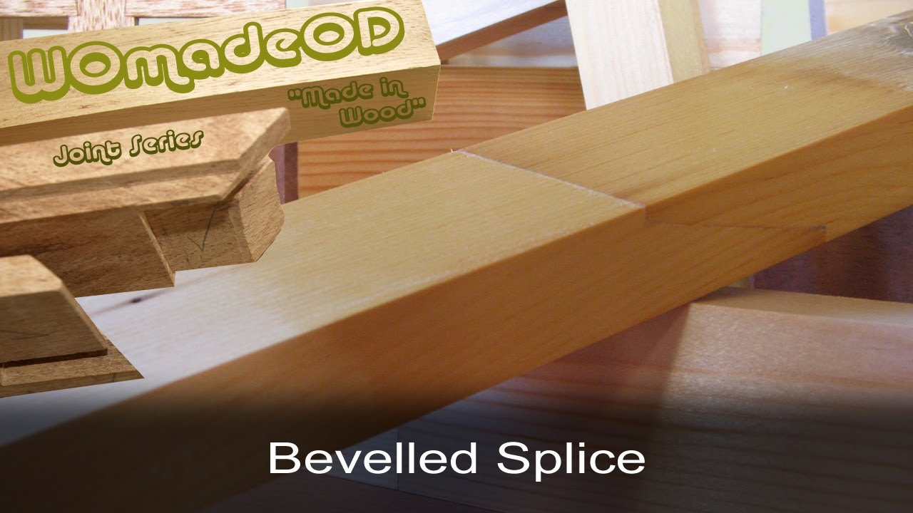 Stepped Bevelled Splice Joint Stepped Scarf Joint Youtube