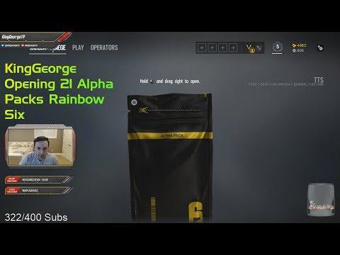 21 Alpha Pack Opening! Rainbow Six Siege KingGeorge
