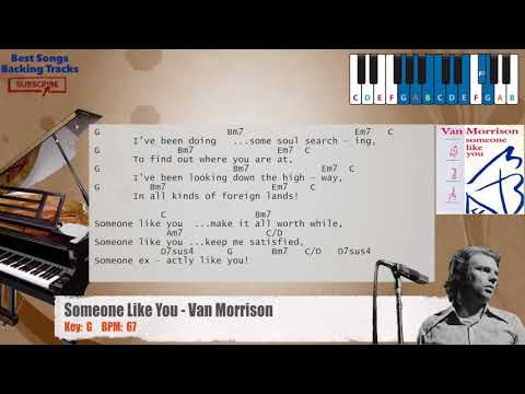 Someone Like You Van Morrison Piano Backing Track With Chords And