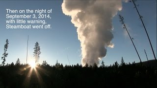Steamboat Geyser September 2014 eruption