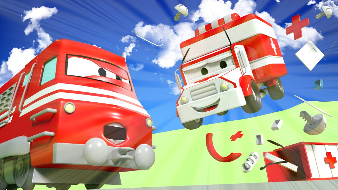 amber-the-ambulance-helps-the-dump-truck-troy-the-train-in-car-city-l-cartoons-for-children