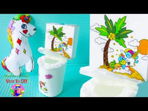 DIY BARBIE HACKS. How to make Unicorn toilet for LOL doll. Dollhouse crafts tutorial