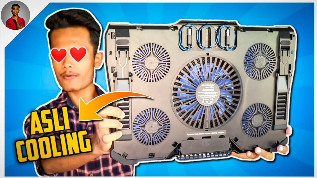 Cosmic Byte Asteroid Laptop Cooling Pad Review !