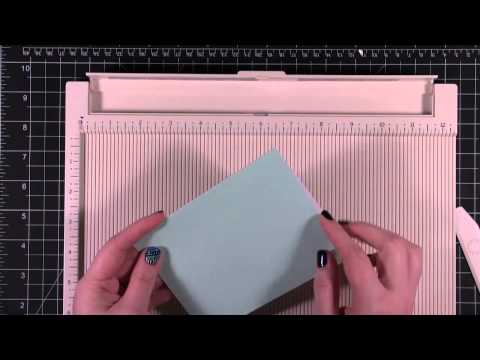 Card Making and Paper Crafting Quick Tip - Martha Stewart Crafts Scoring Board