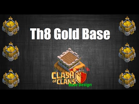 Clash of Clans -Th8 Gold Base Build