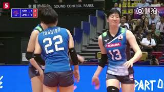 Zhu Ting, 19points China3-0Japan-Volleyball Nation League