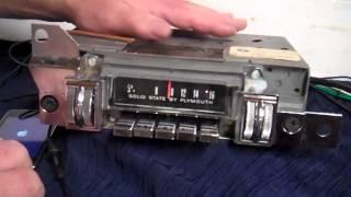 1968 Plymouth Barracuda original am radio