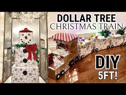 DIY Dollar Tree Christmas Decor! | DIY Dollar Tree Train & Snowman