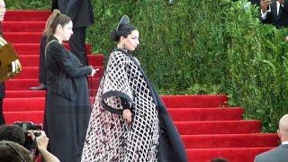 Lady Gaga & Rihanna arrives at the Met Gala 2015