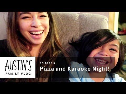 Pizza & Karaoke Night | Austin Vlog | HiHo Kids