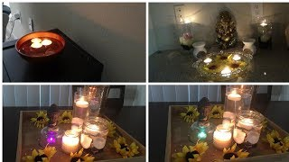 Diy Home candle decoration diwali special