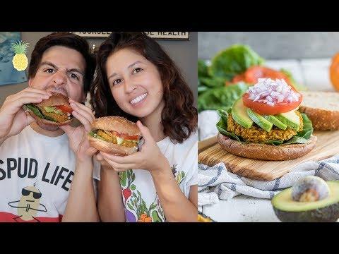 Pumpkin Burger Mukbang + 25 Facts About Us