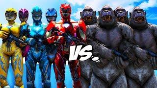Power Rangers 2017 vs Gorilla Army