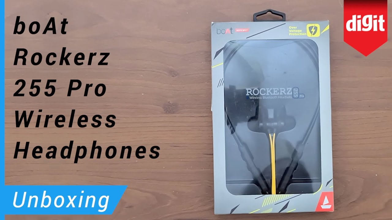 Boat Rockerz 255 Pro Wireless Bluetooth Headset Unboxing Overview Youtube