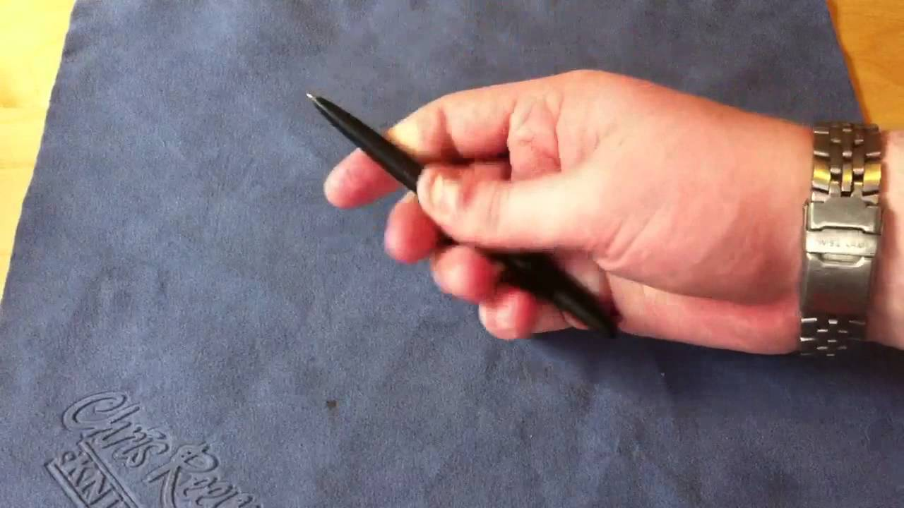 Fisher Matte Black Bullet Space Pen - YouTube