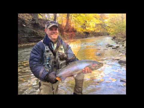 Cattaraugus creek outfitters fall fly fishing 2013 youtube for Cattaraugus creek fishing report