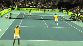 Federer/Sharapova vs Nadal/Azarenka at Nike Clash of The Champions