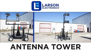 Crank Up Mini Antenna Tower - Wheeled Cart Base - 7'-12' Light Mast - Mount Antennas and Amplifiers
