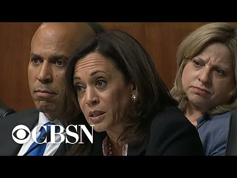 Sen. Kamala Harris grills Barr on White House contacts