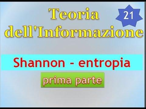 Teoria Informazione ITA 21: Shannon e l`entropia - prima parte