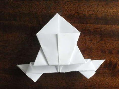 ЛЯГУШКА ИЗ БУМАГИ. Как сделать лягушку из бумаги которая прыгает. Оригами из бумаги