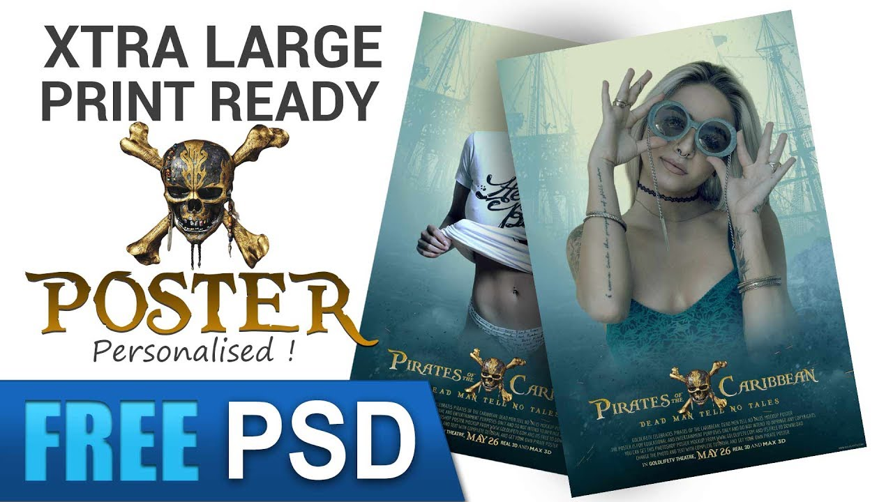 Pirates Of The Caribbean Poster PSD FREE DOWNLOAD