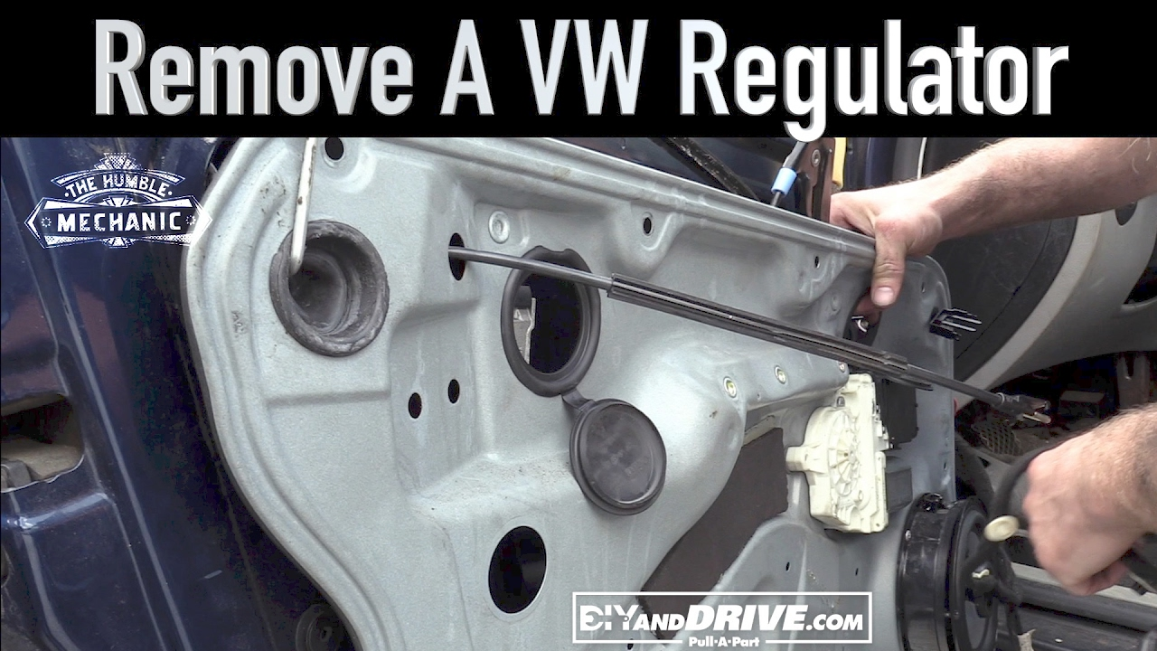 How To Remove A Vw Window Regulator