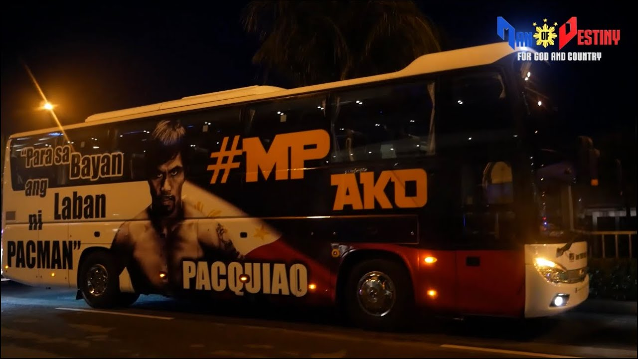 PACQUIAO arrives back in the Philippines