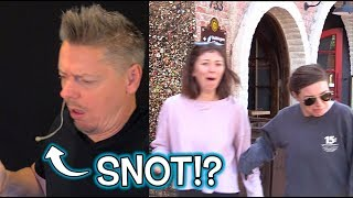 People React to SNEEZING / SNOT in Public Trick! LOL