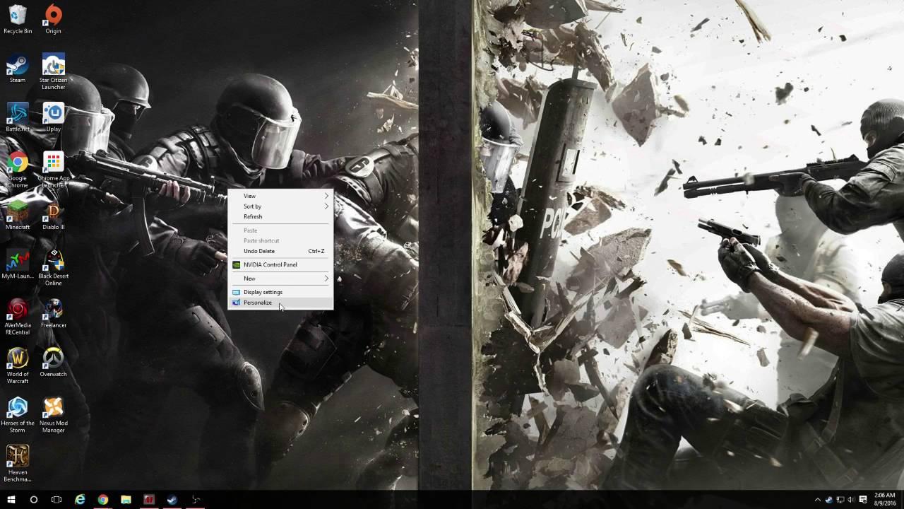 Windows 10 Dual Monitor Wallpaper Fix Youtube
