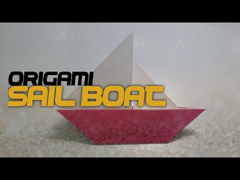 EASY SAIL BOAT ORIGAMI - How To Make Sail Boat Origami Step By Step (Very Easy)