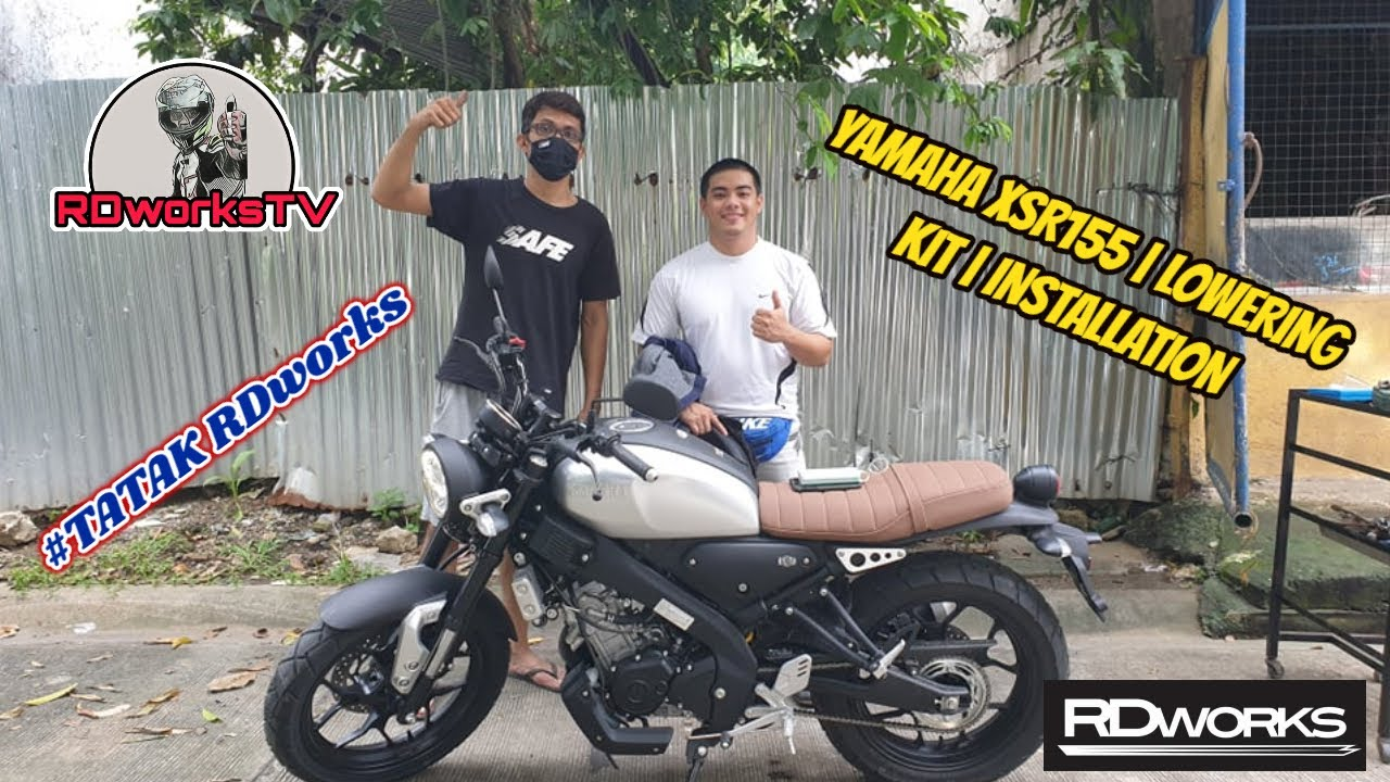 yamaha xsr155 lowering kit installation rdworks zero one moto