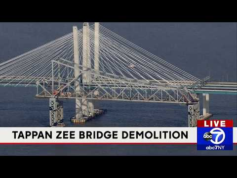 Demolition of old Tappan Zee Bridge