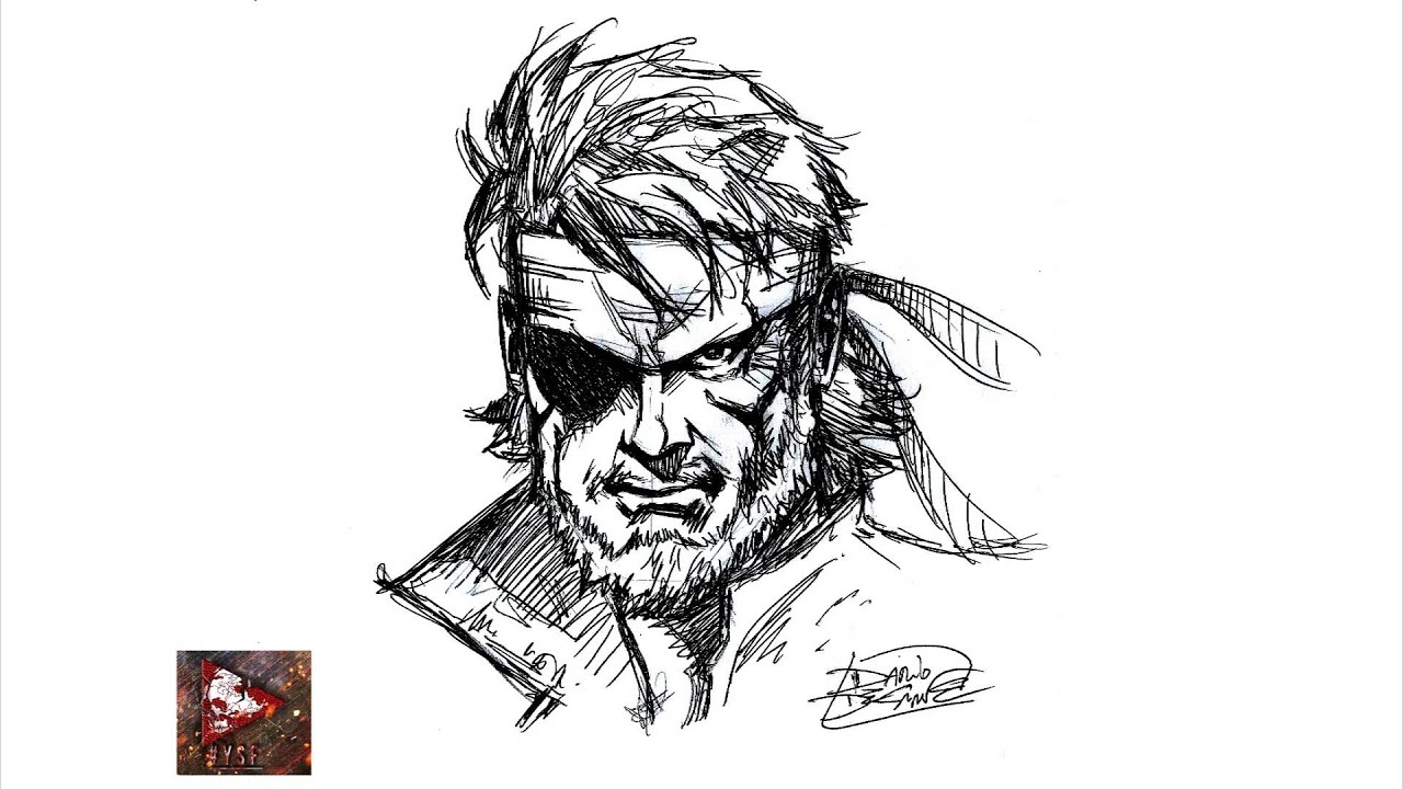 Tutorial How To Draw Snake Metal Gear