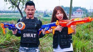 Hihahe Nerf War: Air Force Nerf Guns Commando Super Girl Professional Sniper Nerf War