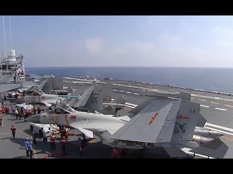 Chinese Aircraft Carrier Liaoning Conducts Drill in South China Sea