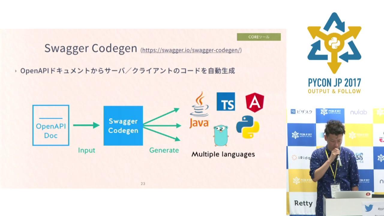 Image from OpenAPIを利用したPythonWebアプリケーション開発 (Takuro Wada) - PyCon JP 2017