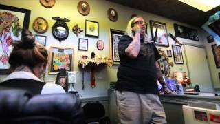 Martin Harley... Outlaw... Golden Owl Tattoo Shop interview and Napa Ride