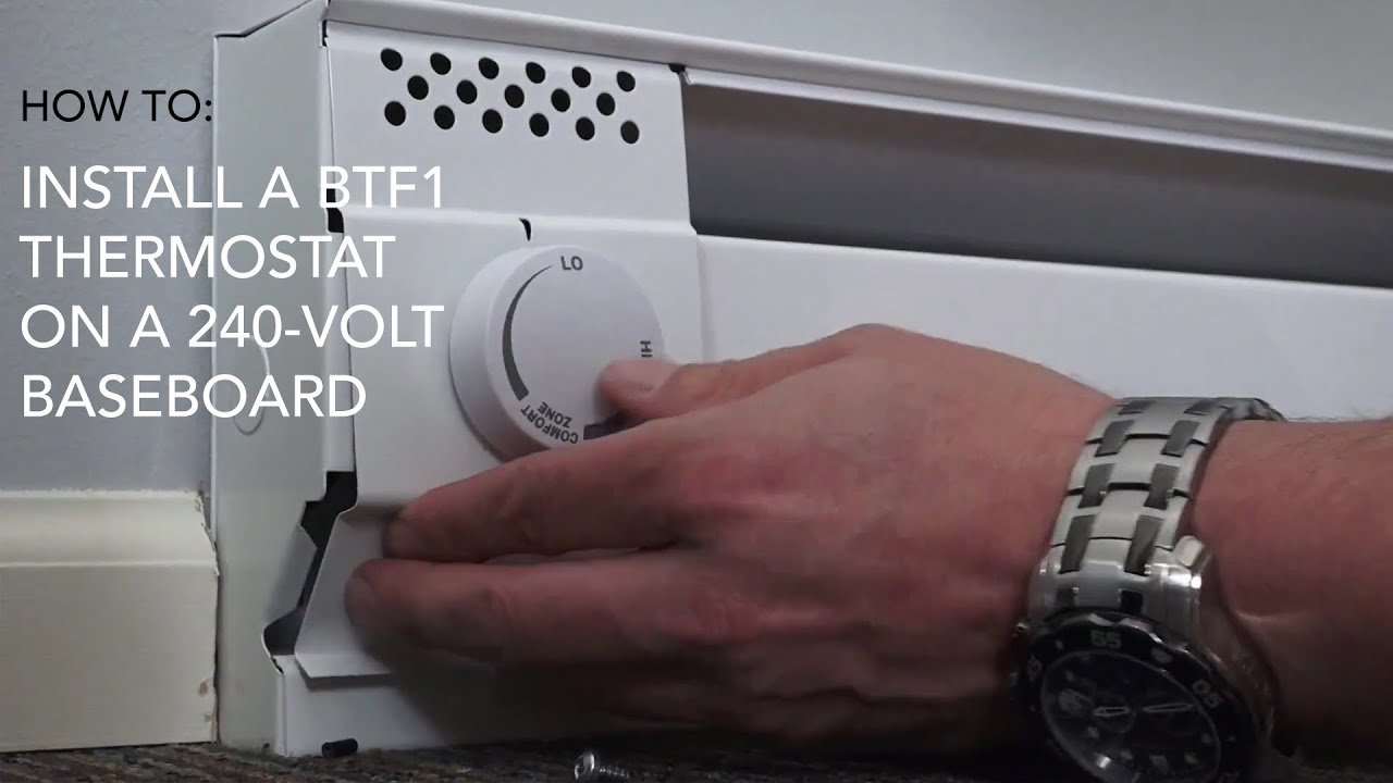 How to install: BTF1 thermostat on 240V baseboard | Cadet Heat - YouTube