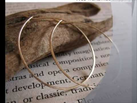 Elegant Hoop Earrings - Gold Filled and Sterling Silver Hoops - Modern Jewlery
